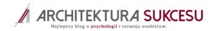 Architektura sukcesu blog o psychologii Patryk Wójcik
